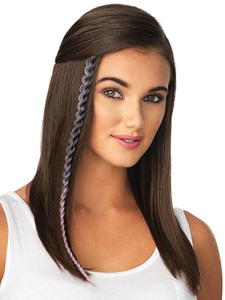 METALLIC BRAID EXTENSION by POP by hairdo in LIGHT PURPLE BLACK