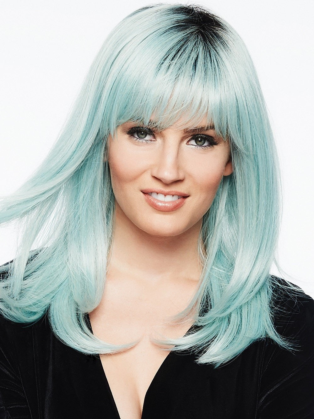 MRWIG ombre mint green free part long wavy synthetic ... |Mint Hair Wig