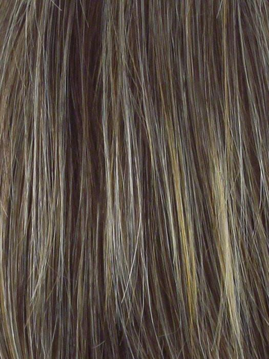 R11S GLAZED MOCHA | Medium brown with golden blonde highlights on top