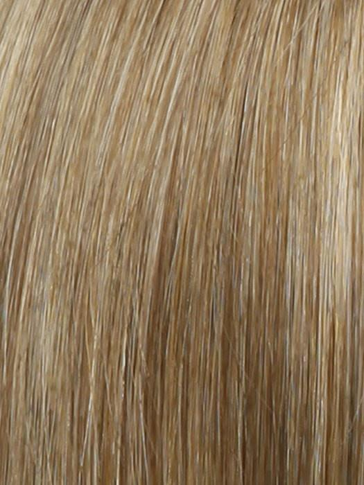 Color R14/25 = Honey Ginger: Dark Strawberry Blonde Blended With Pale Gold Blonde