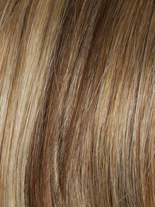 Color R29S = Glazed Strawberry: Strawberry blonde with pale blonde highlights