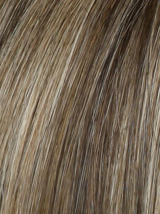 Color RL12/22SS = Shaded Cappucino: Light Golden Brown With Cool Blonde Hightlights All Over and Dark Brown Roots