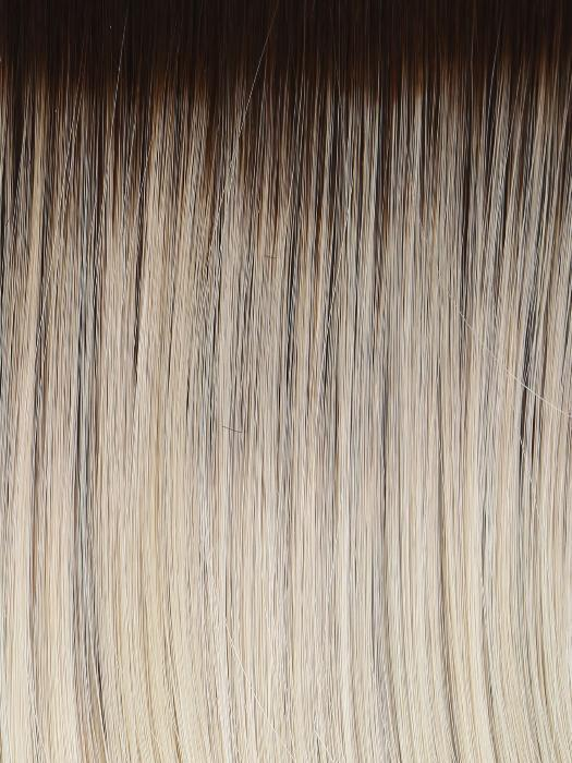 RL613SS SHADED PLATINUM | Dark Brown roots with Warm Platinum Blonde