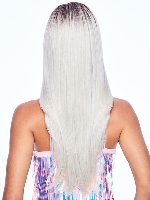 Lavish length, platinum strands, and a sleek finish… what more could a girl want?