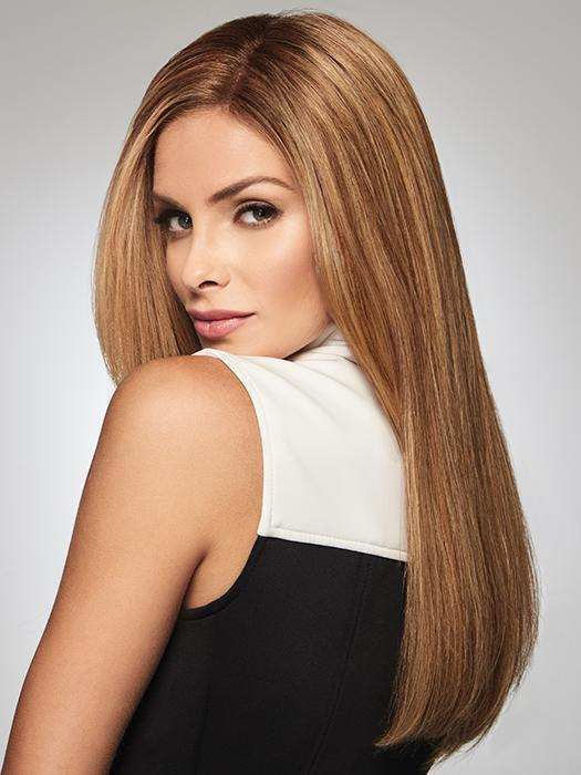 This human hair top piece is the perfect answer if you have longer length hair