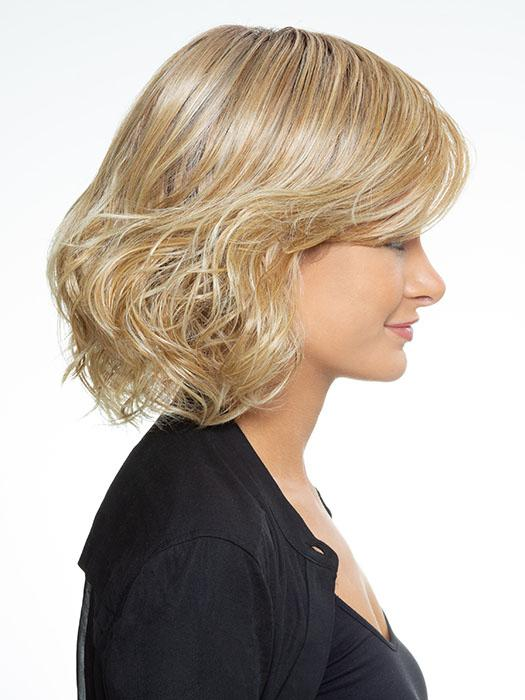 "A natural layered texture at the ends gives this style a popular ""lived-in"" look"