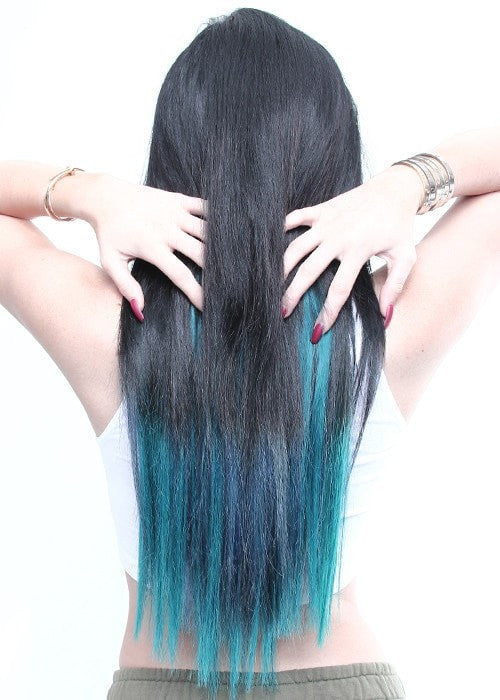 Color 1B/Teal | Blends with Short or Long Hair