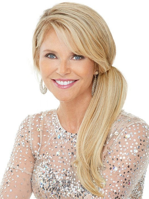 Color HT25 = Medium Golden Blonde | Clip In Pony by Christie Brinkley