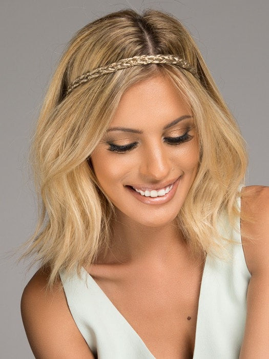 Color HT14/88H = Light Blonde | Double Braided Headband by Christie Brinkley