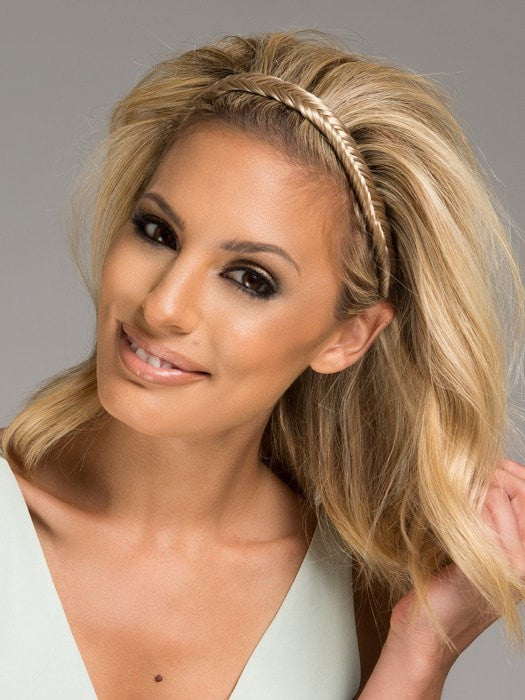 Color HT14/88H = Light Blonde | Fishtail Headband by Christie Brinkley