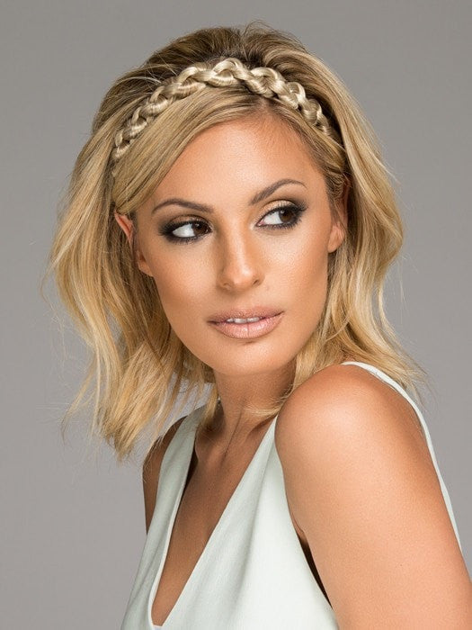 Color HT14/88H = Light Blonde | Thick Braid Headband by Christie Brinkley