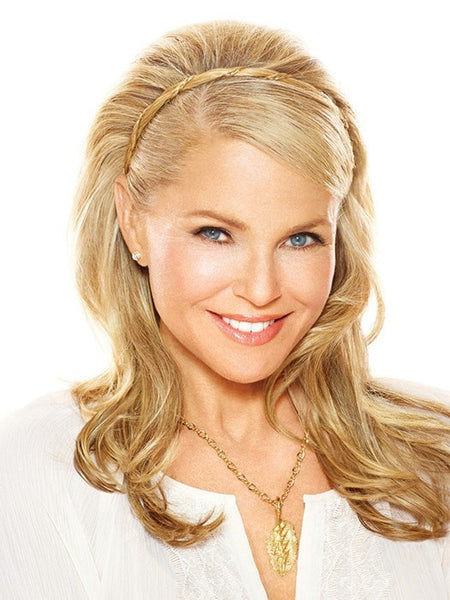 Color HT25 = Medium Golden Blonde | Corinthian Headband by Christie Brinkley