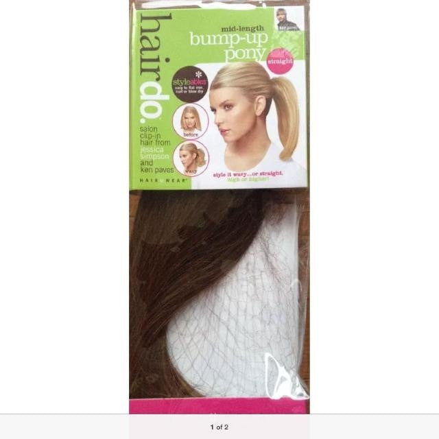 Straight Mid Bump Up Pony By Jessica Simpson Clearance 30 Off