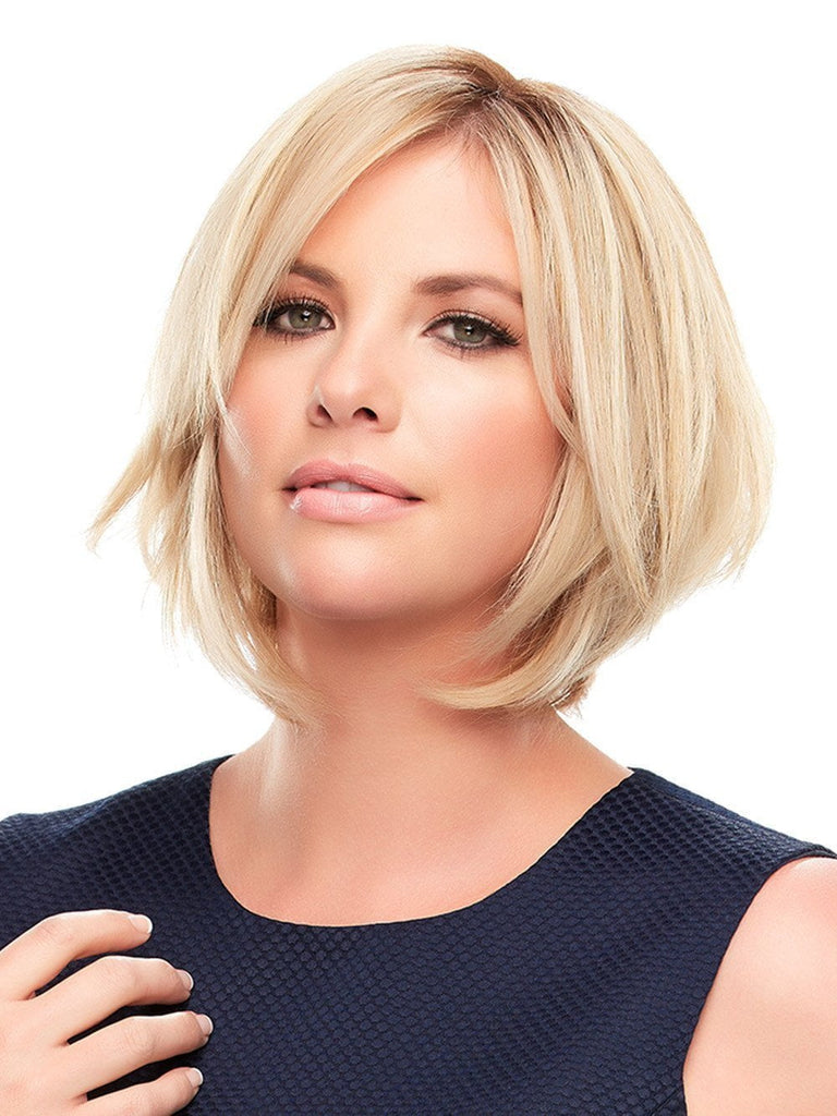 Worn over the part and adds volume to short hair styles