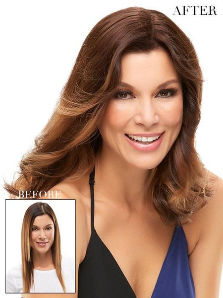 "Color 6RN = Fudgesicle: Brown | easiPart HH 18"" by easihair"