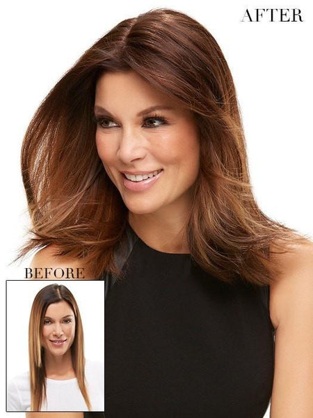 "Color 6 = Fudgesicle: Brown | easiPart HD 18"" by easihair"
