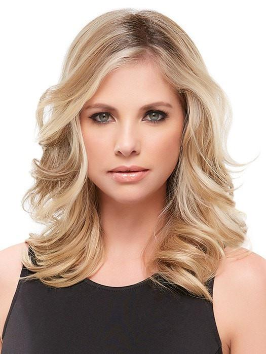 "Color 12FS8 = Pecan Praline: Lt Gold Brown/Honey Blonde/Platinum Blonde Blend | easiPart HD XL 12"" by easihair"