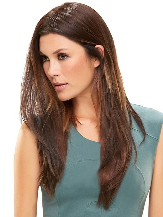 "Color 6 = Fudgesicle: Brown | easiPart HD XL 18"" by easihair"