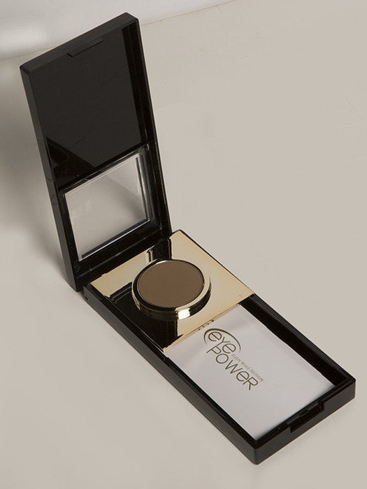 The waterproof powder resists smudging and sliding and lasts all day