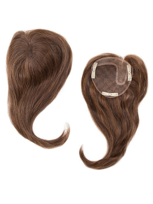 Color Medium-Brown = 3 tone blend with medium brown with natural brown highlights | Add-On Left by Envy