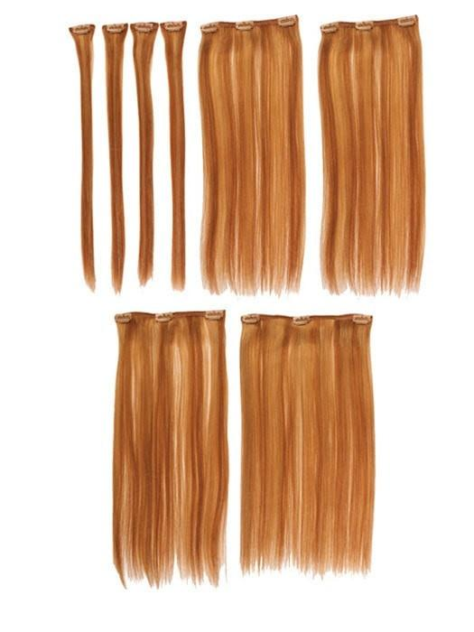 "12"" easiXtend Professional Human Hair Clip In Extensions 