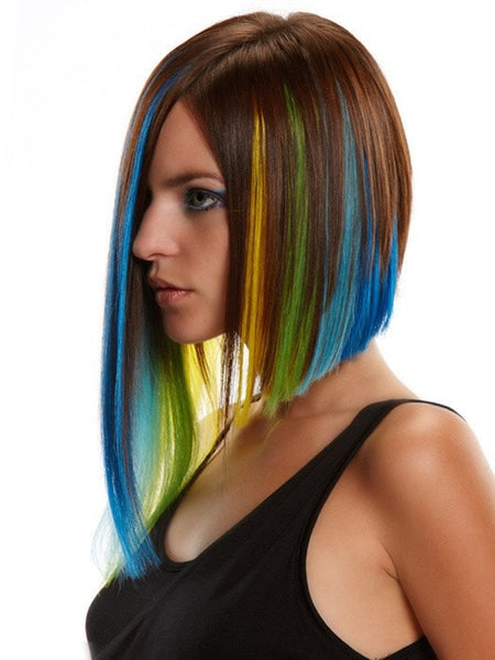 Colored Hair Extensions, Hairpieces & Wigs - Hair ...