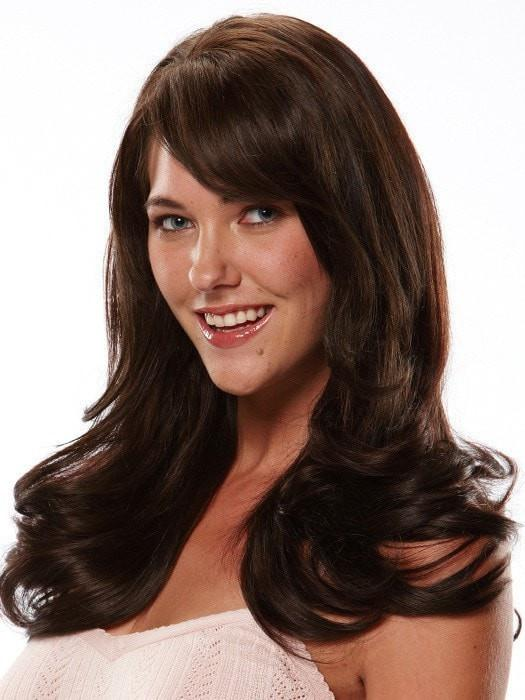 "Color 6/8 = Brown Chocolate Mocha:  Brown/Med Brown Blend | easiXtend Elite 16"" by easihair"