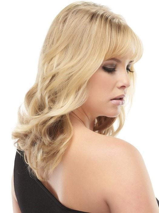 "Color 24B613 = Butter Popcorn: Honey Blonde & Warm Platinum Blonde Blend | easiVolume 10"" by easihair"