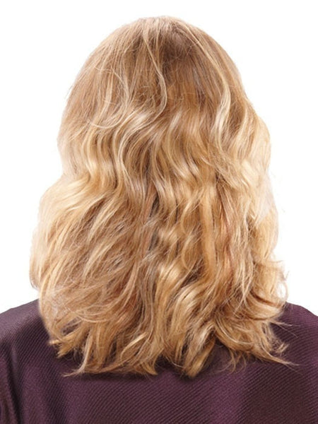 "Color 12F = Blonde Pecan Praline: Lt Gold Brown/Honey Blonde/Platinum Blonde Blend | 14"" easiVolume by easihair"