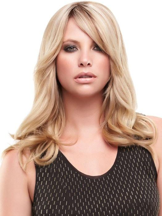 Color 12FS8 = Pecan Praline: Lt Gold Brown/Honey Blonde/Platinum Blonde Blend | easiFringe HD by easihair