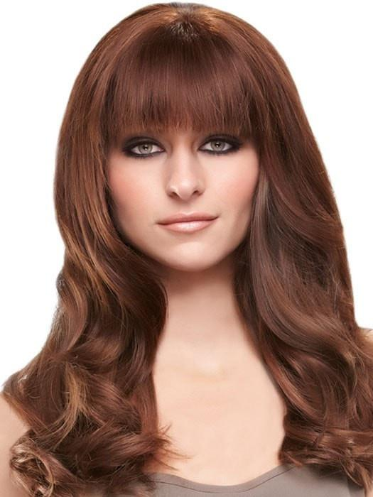 Color 8/30 = Cocoa Twist: Med Brown & Golden Red Blend | easiFringe by easihair