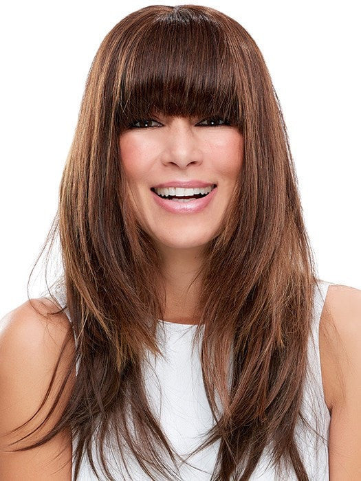 easiFringe can be trimmed, by a Professional, to achieve the blunt cut look | Color: 6RN