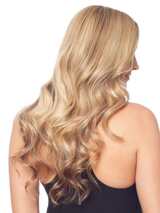 "EASIPART HUMAN HAIR XL 18"" by easihair can be heat-styled with a flat iron or curling iron creating the perfect integration"