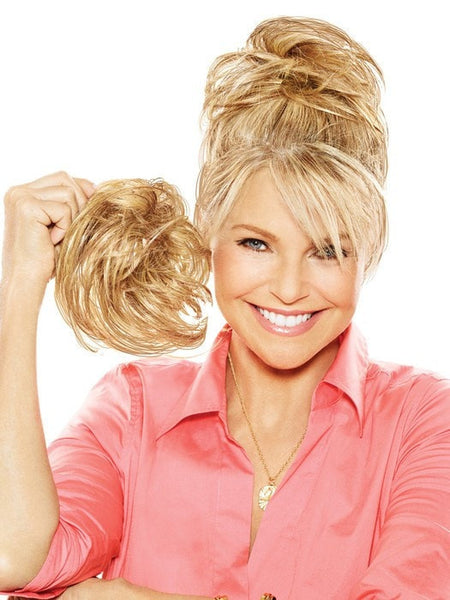 Color HT25 = Medium Golden Blonde | Natural Tone Hair Wrap by Christie Brinkley