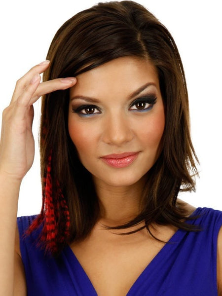 "Color Tiger-Red | 16"" Tiger Print Hair Extension by PutOnPieces"
