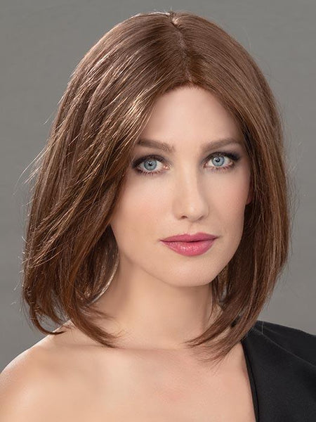 FAMOUS by ELLEN WILLE in CHOCOLATE MIX | Medium to Dark Brown base with Light Reddish Brown highlights