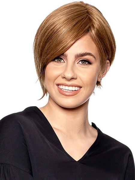 NATURAL LACE TOP C by WIG PRO in 10/12 | Medium Golden Brown Blended with Light Golden Brown