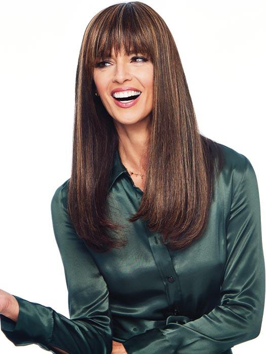 Long tapered lengths blend well into long layered hairstyles