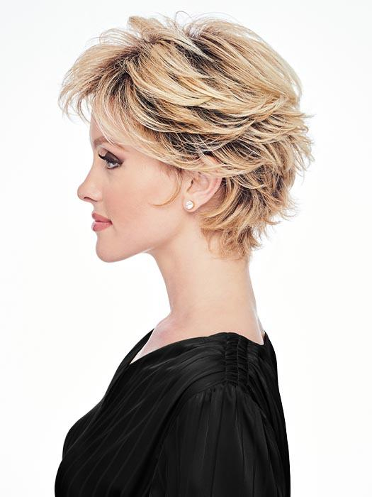 Wispy lengths frame the face and give an air of softness