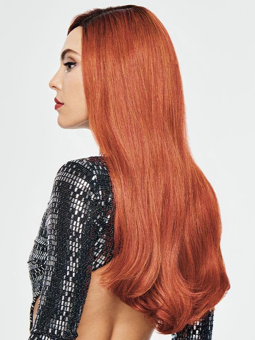 The gorgeous, red-orange hue will have you looking like you spent hours in a salon to achieve this vivid color