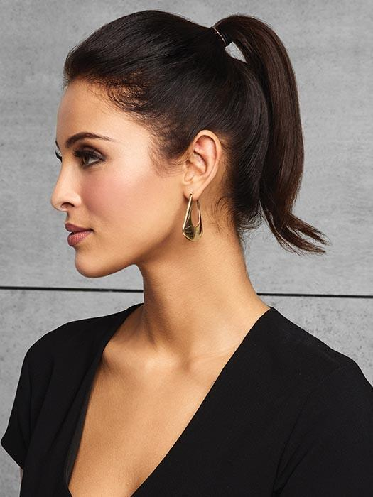 Your ponytail just got an instant makeover with this do-it-yourself style. Change the texture using a curling iron or flat iron.