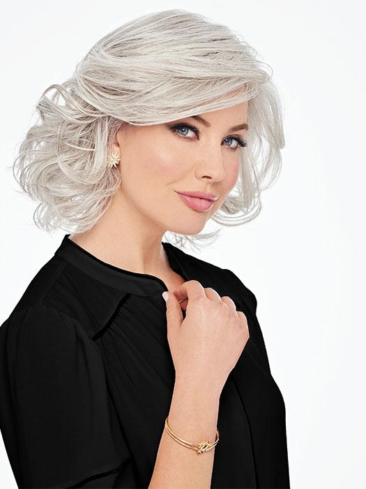 BOMBSHELL BOMB by HAIRDO in R56/60 SILVER MIST | Lightest Grey with White highlights all over