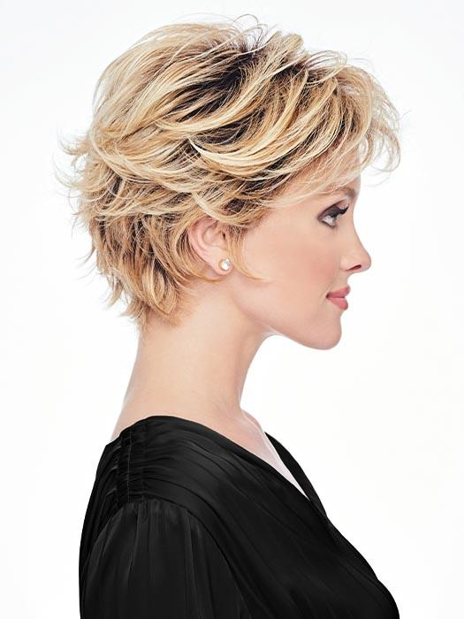 The razor-cut layers throughout make this a flattering shape for any face
