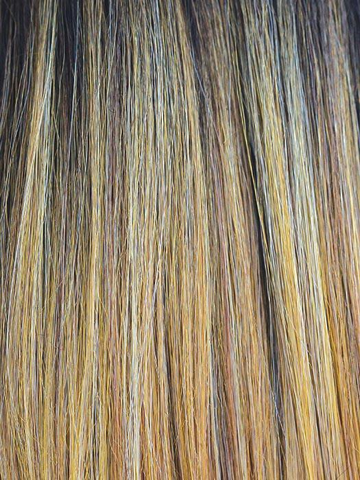 SUNKISS | Honey Gold, Strawberry Blonde, and Light Blonde Blend with Medium Brown Roots