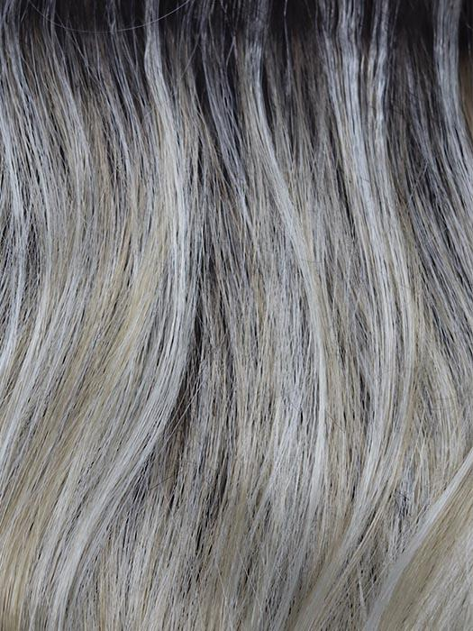 SHADOWED-CUSTARD | Warm Blonde with Light Blonde Blended Highlights and a Medium Brown Root