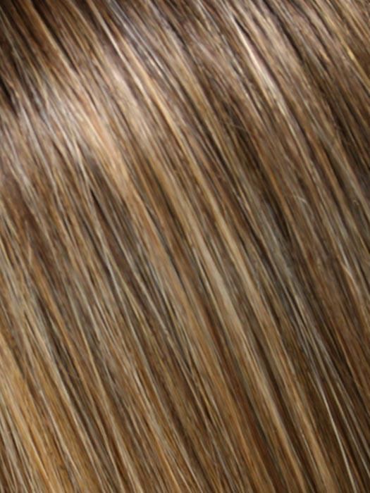 24B18S8 SHADED MOCHA | Medium Natural Ash Blonde & Light Natural Gold Blonde Blend, Shaded with Medium Brown