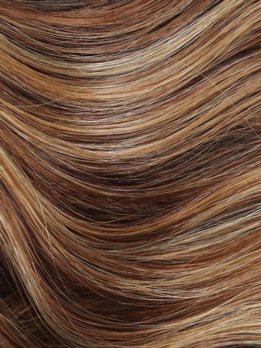 CHOCOLATE-PRETZEL | Blend of Warm Light Brown and Strawberry Blonde
