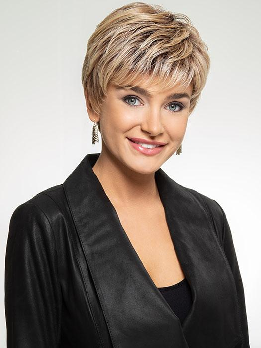 Short, layered pixie with a light, wispy texture