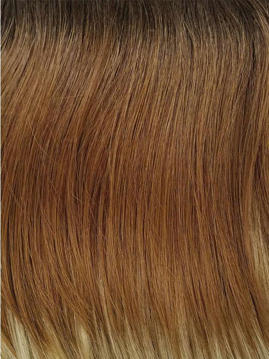 MELTED-COCONUT | Dark Rich Brown Roots with Soft Golden Medium Brown at Middle and Warm White Ends