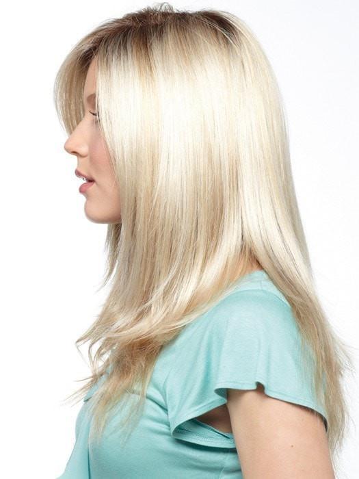 Color Creamy Toast = Rooted Dark with a Platinum base with Dark Gold Blonde highlight